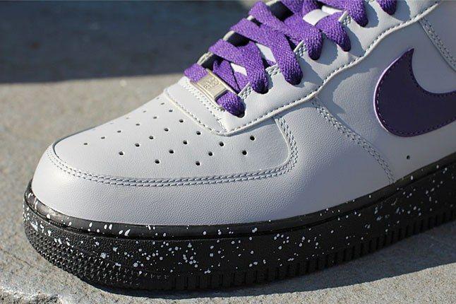 White Purple Uptown Sneaker 1