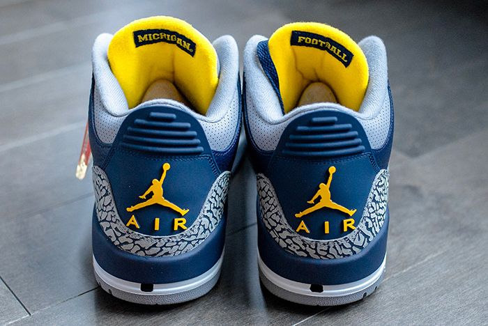 Air Jordan 3 College Pe Michigan 5 Sneaker Freaker