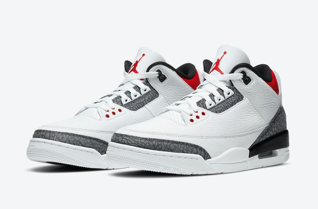 Air Jordan 3 Fire Red Japan Exclusive Angled