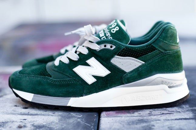 New Balance Green Suede 2