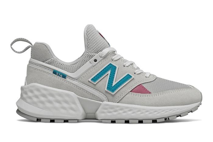 New Balance 574 Sv2 White Teal Right Side Shot