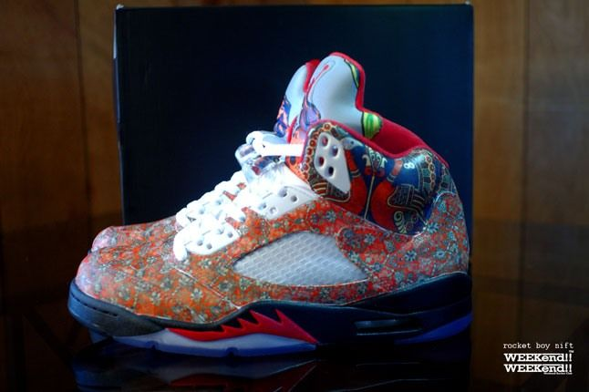 Air Jordan 5 Rocket Boy Nift Custom Pair Profile 1