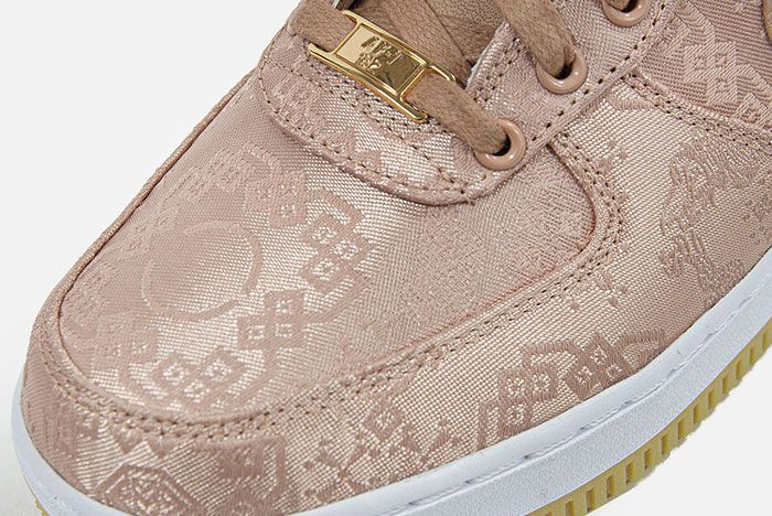 Clot Nike Air Force 1 Rose Gold Toebox