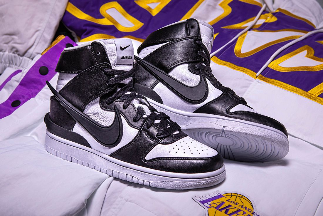 AMBUSH x Nike Dunk High and NBA Collection sneaker freaker shot