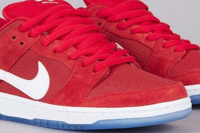 Nike Sb Dunk Low Challenge Red White University Blue Toe 1