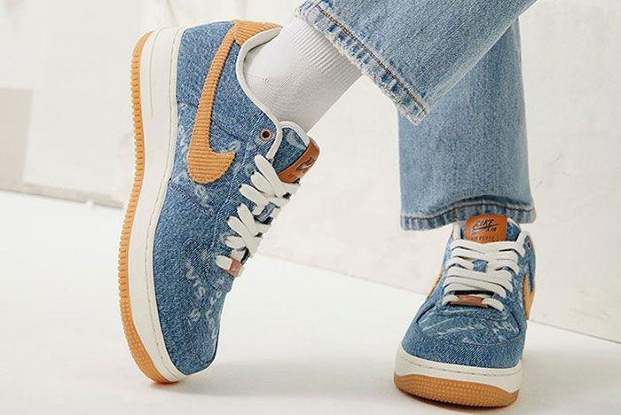 Levis Nike By You Af1 Am90 1 On Foot