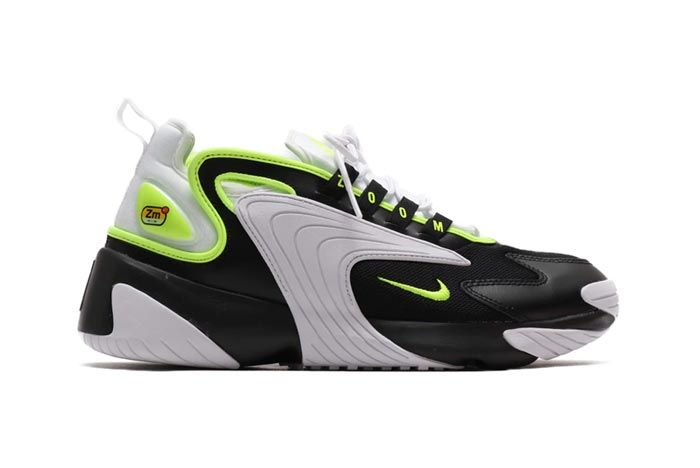 Nike Zoom 2K Black White Volt Lateral