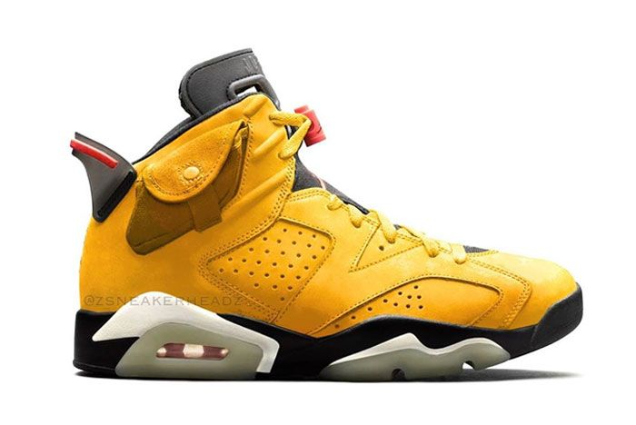 Travis Scott Air Jordan 6 Yellow Right
