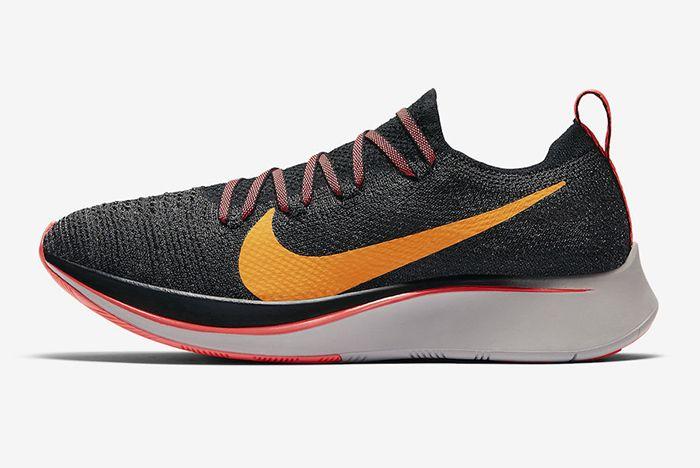 Nike Zoom Fly Flyknit Black Flash Crimson 1