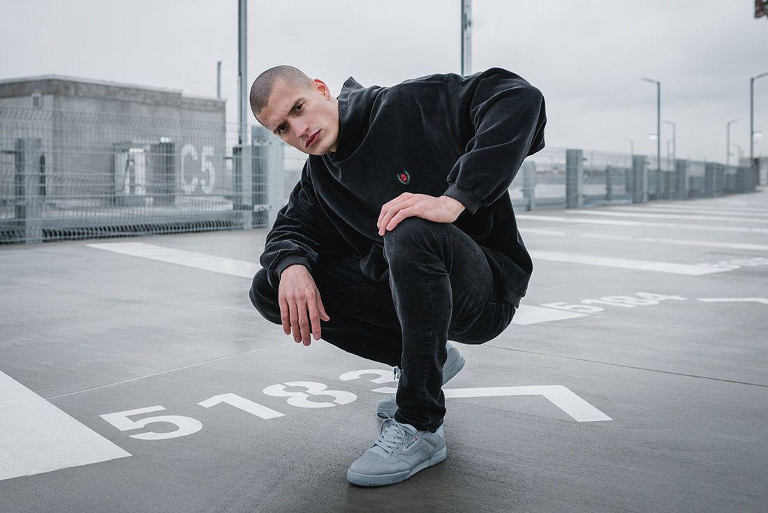 Adidas Yeezy Powerphase Grey On Foot Sneaker Freaker 7