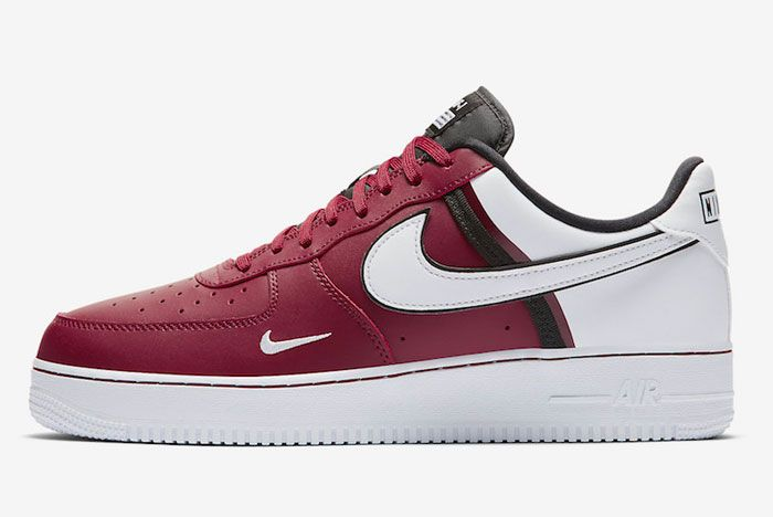 Nike Air Froce 1 Low 07 Lv8 Red Left