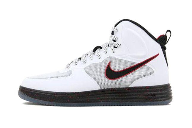 Nike Lunar Force 1 High University Red Profile 1