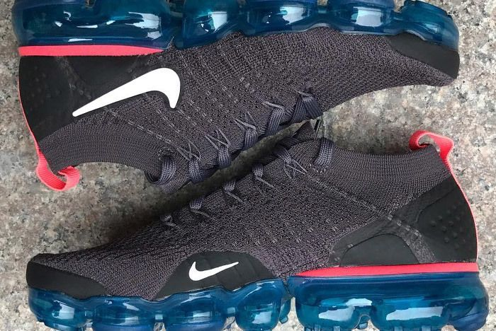 Nike Air Vapormax 2 Flyknit Grey Blue 1