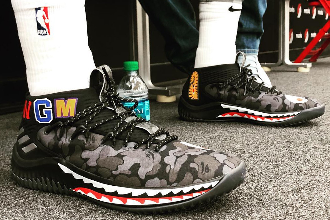 adidas Dame 4 on foot