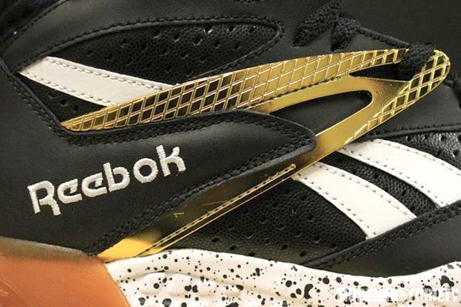Reebok Scrimmage Mid Black Gold Midfoot Detail 1