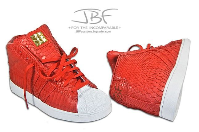 Jbf Customs Red Python Adidas Promodel 6 1