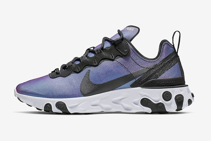 Nike React Element 55 Prm Laser Fuchsia Cd6964 001 Release Date Lateral