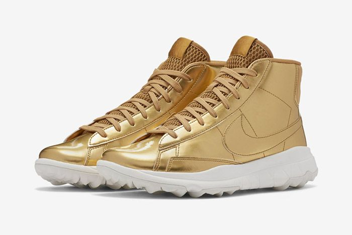 Nike Blazer Golf Metallic Gold Wmns 1