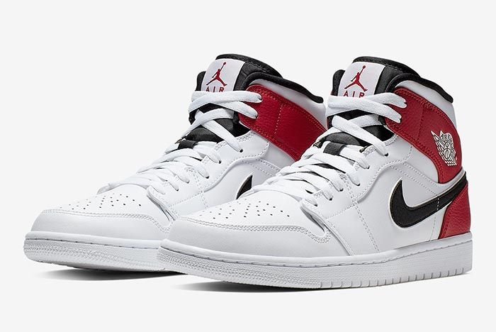 Air Jordan 1 White Black Red 554724 116 Three Quarter Shot