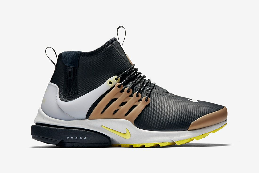 Nike Air Presto Utility Mid Black Yellow Gold 4