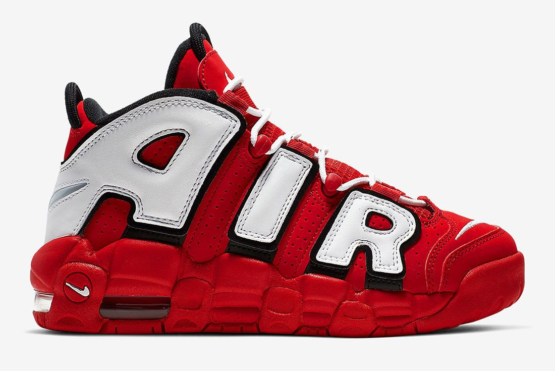 Nike Air More Uptempo Cd9402 600 University Red Black Summit White White 3 Side