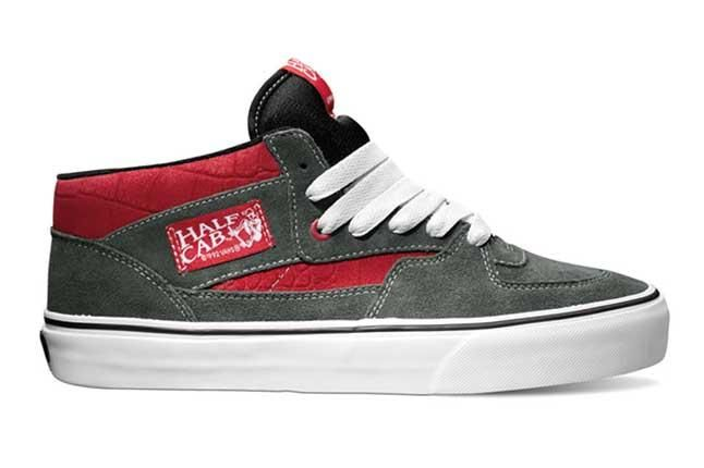 Vans Half Cab Croc Suede Pack Red Profile 1