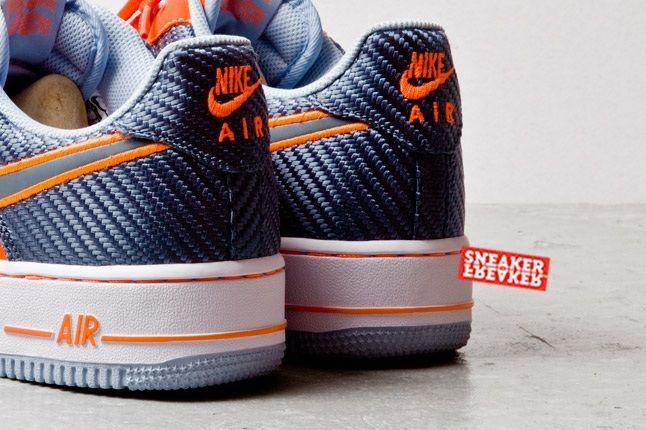 Nike Air Force 1 Low Team Orange Total Orange Heel Detail