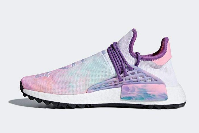 Pharrell X Adidas Nmd Hu Trail Holi Pink Glow 9