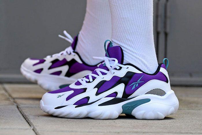 Reebok Dmx Series 1000 Purple 3 On Foot