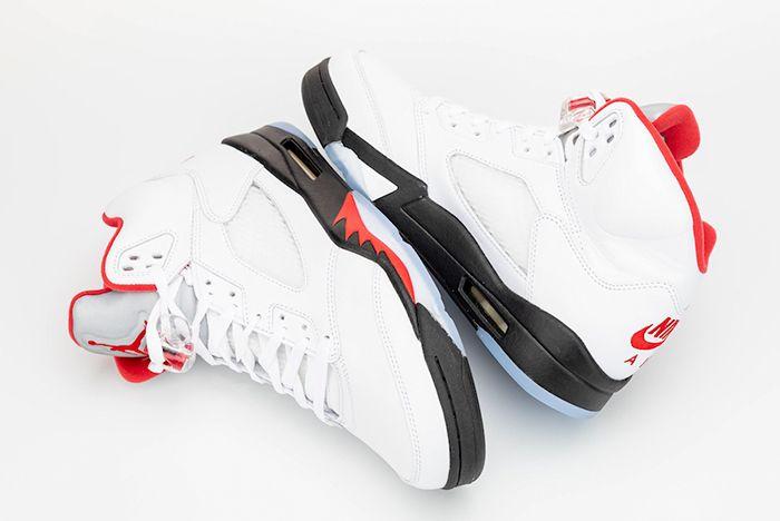 Air Jordan 5 Fire Red Opposite