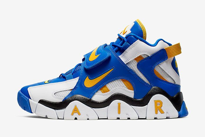 Nike Air Barrage Mid Warriors At7847 100 Lateral
