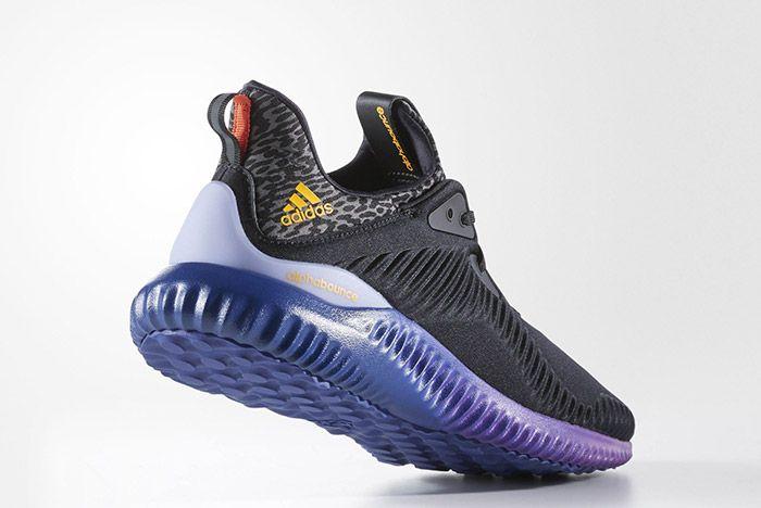 Adidas Aplhabounce Black Purple 1