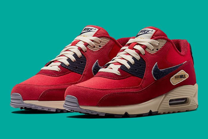 Nike Air Max 90 Chenille Red Blue 2
