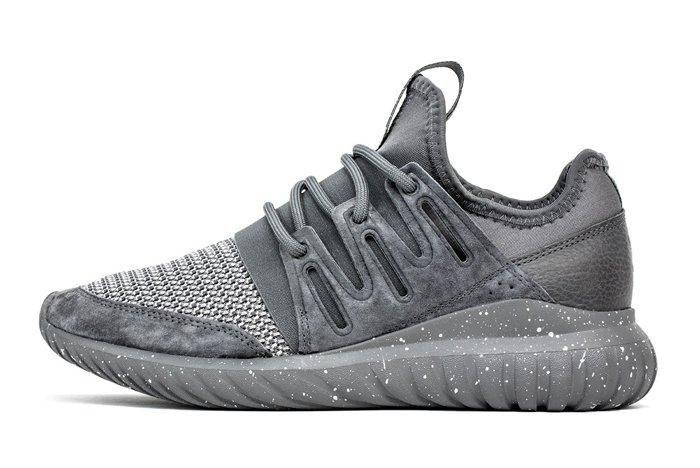 Adidas Originals Tubular Radial Granite Core Black Burgundy 1