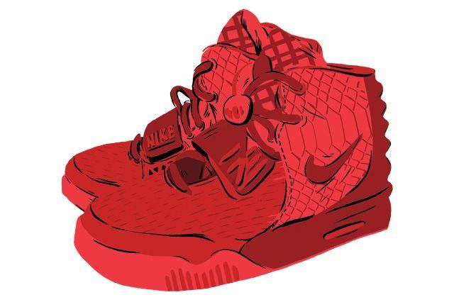 Kanye West Yeezy 2 Nike Red October Main