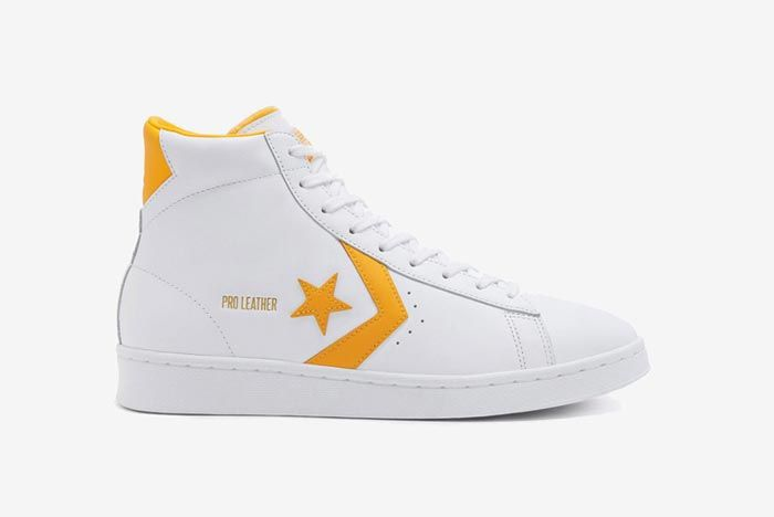 Converse Pro Leather Hi Yellow Lateral