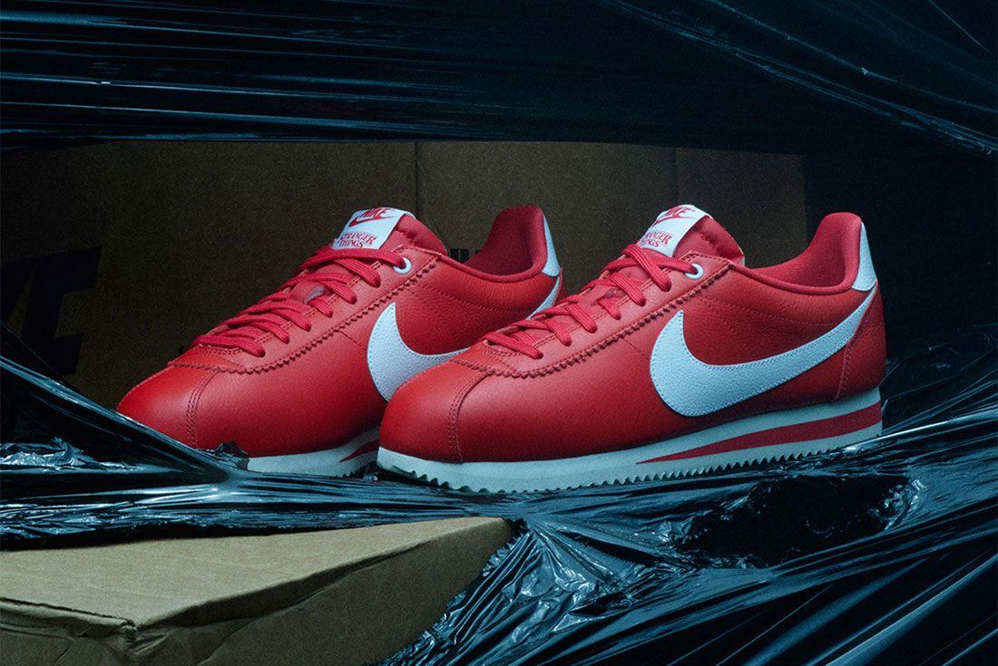 Stranger Things Nike Cortez Red Og Collection Ck1907 600 Three Quarter Angled Side Shot