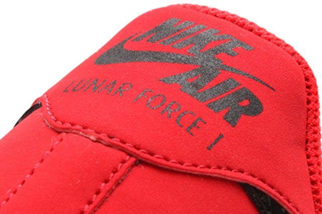Nike Lunar Force 1 University Red Black Heel2