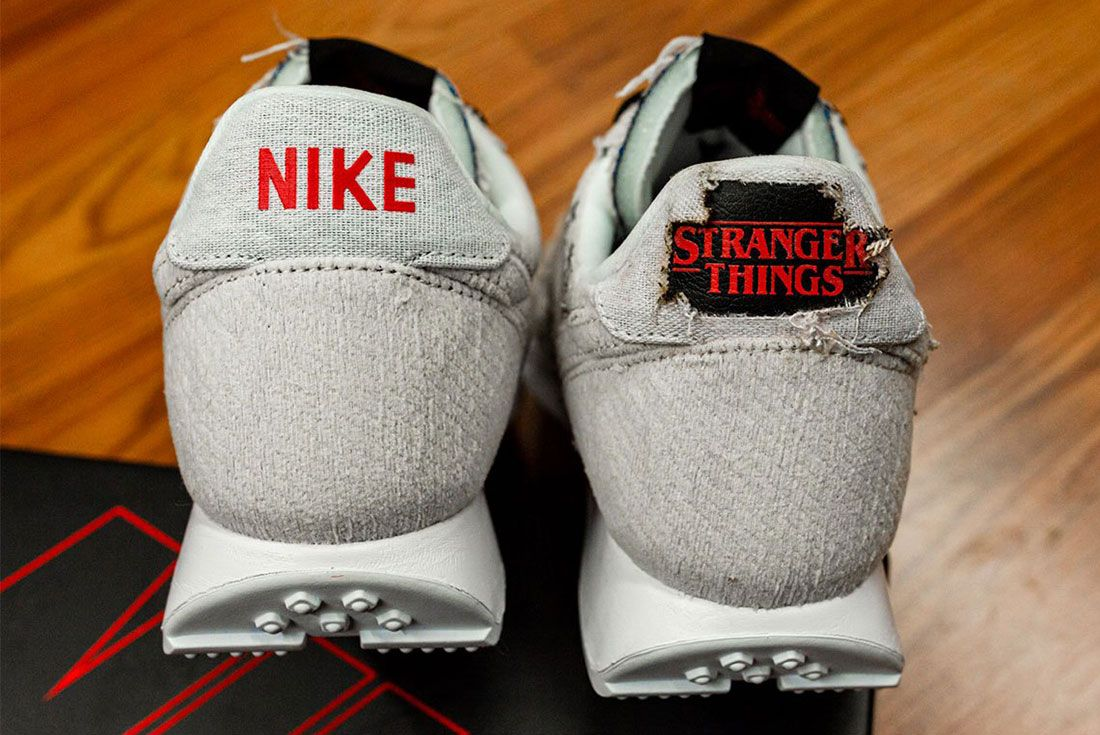 Stranger Things Nike Tailwind Grey Black 4 Heel