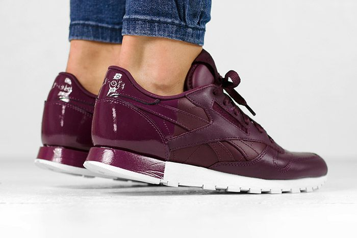 Reebok Classic Leather Matte Shine Maroon Wmns 3
