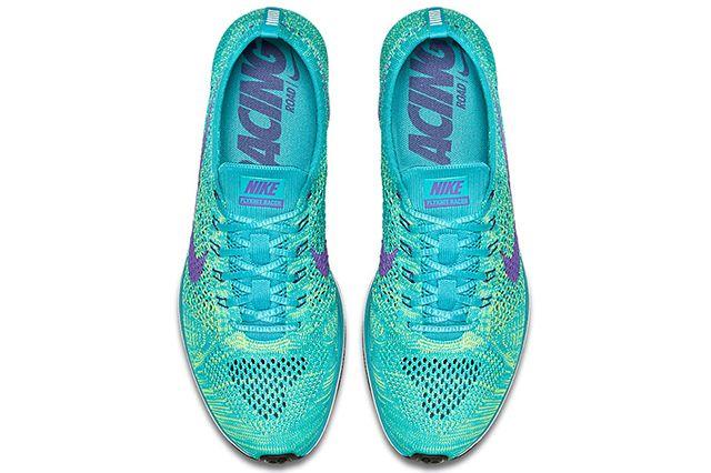 Nike Flyknit Racer Sport Turquoise Hyper Grape Volt 4