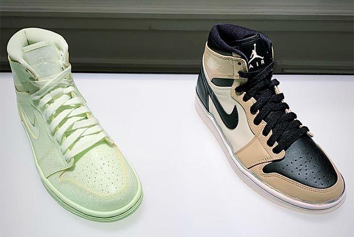 Air Jordan 1 Womens Summer Collection Green Gold Three Quarter Shot