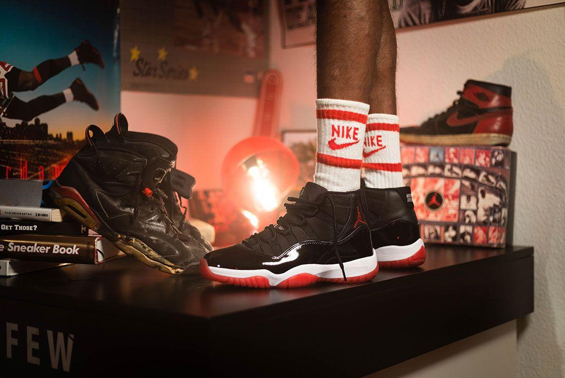 Afew Air Jordan 11 Bred Sway Knight On Foot Socks Book