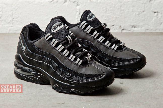 Nike Air Max 95 Gs Black Silver Anthracite 3