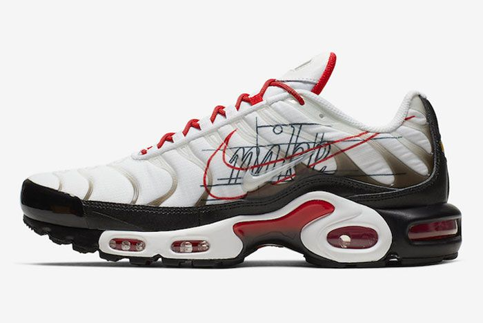 Nike Air Max Plus Black University Red