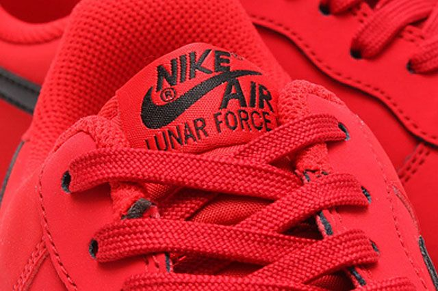 Nike Lunar Force 1 University Red Black Tongue