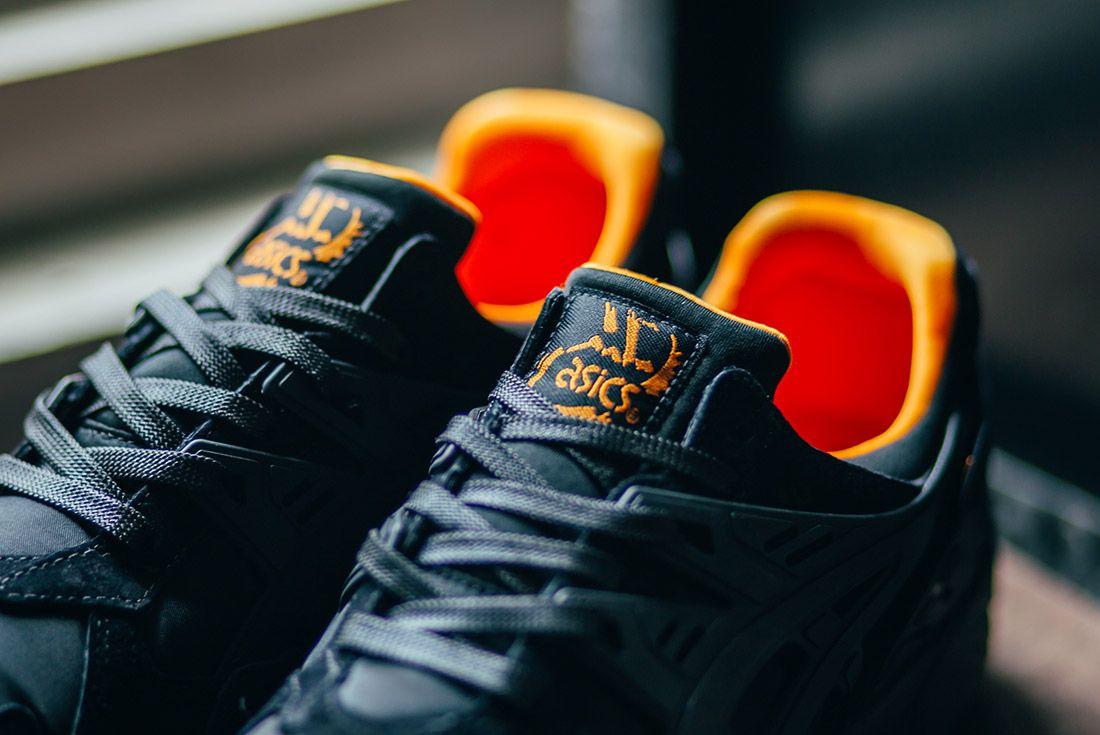 Porter Asics Gel Kayano Trainer Black Orange 7