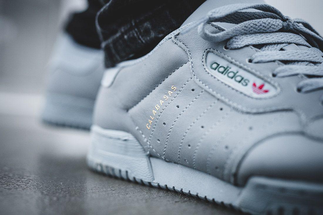 Adidas Yeezy Powerphase Grey On Foot Sneaker Freaker 2