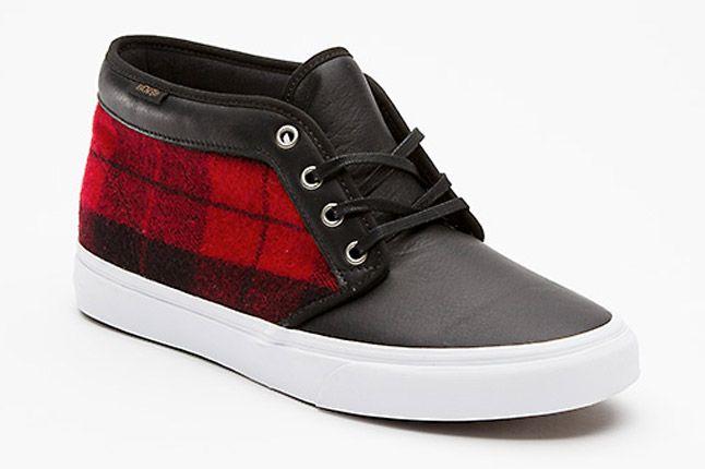 Vans Flannel Chukka Boot Ca Quater Front 1