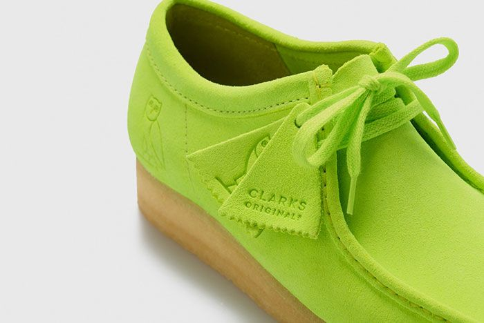 Octobers Very Own Ovo Clarks 2020 Wallabee Neon Tag